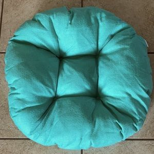Teal Round Small Dog Bed